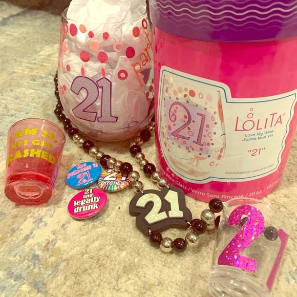 "Lolita Other - ""21"" Lolita Stemless Wine Glass w/ accessories!"